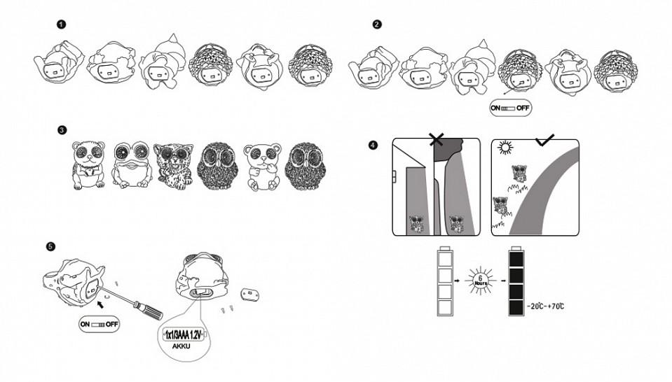 Комплект из 24 садовых фигур Solar 33359-24