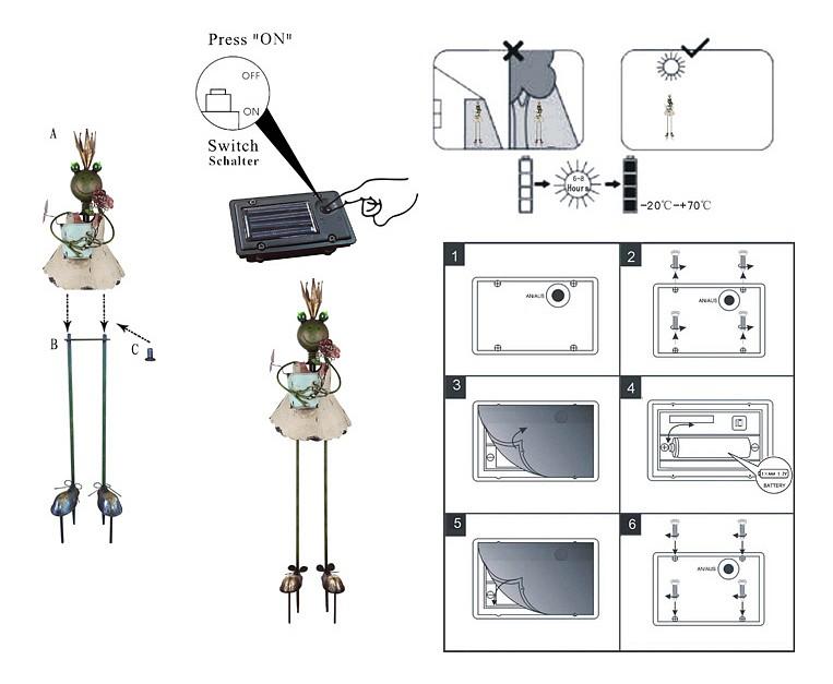 Садовая фигура Solar 33456
